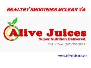 Healthy Smoothies Mclean VA