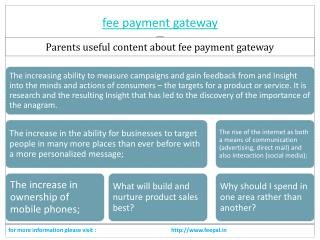 Some important content related fee payment gateway