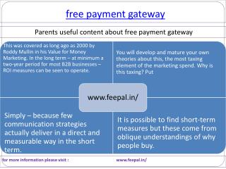 Best payment option for free payment gateway