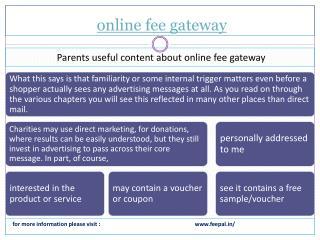 Wonderful web resource for online fee gateway
