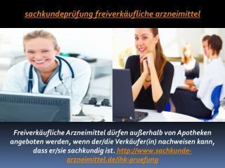 Sachkundeprüfung Freiverkäufliche Arzneimittel