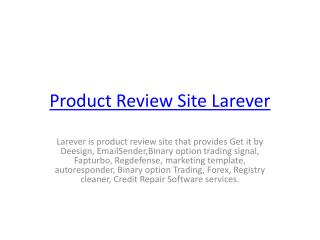 Product Review Site Larever