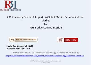 Global Mobile Communications Market Overview 2015