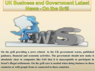 UK Business and Government Latest News