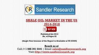 US Shale Oil Market Growth Drivers Analysis 2018