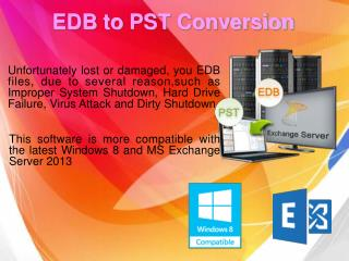 EDB to PST Conversion Tool