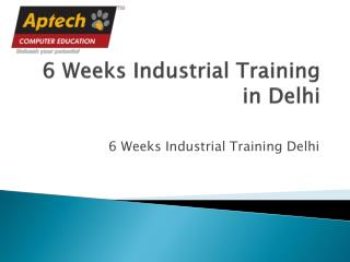 6 Weeks Industrial Training in Delhi