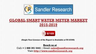 Smart Water Meter Market to Grow at 14.68% CAGR by 2019