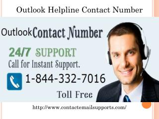 outlook Customer 1-844-332-7016 Support Phone Number USA