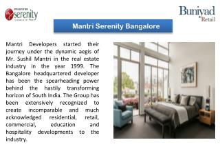 Mantri Serenity Kanakapura