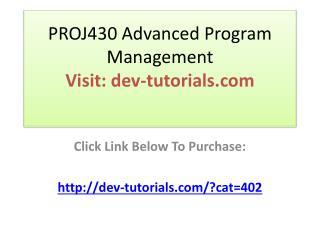 PROJ430 Advanced Program Management / Complete Course / Gra