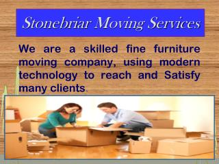 Commercial Moving Company- Stonebriar Moving Services
