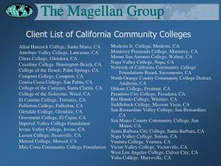 Client List of California Community Colleges