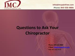 Questions to Ask Your Chiropractor