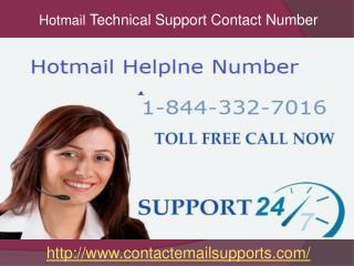 Hotmail Technical Support 1-844-332-7016 Phone Number