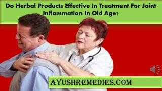 Do Herbal Products Effective In Treatment For Joint Inflamma