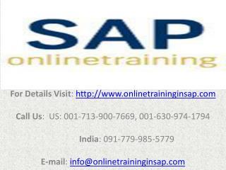 SAP SRM Online Training and Job Assistance