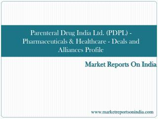Parenteral Drug India Ltd. (PDPL) - Pharmaceuticals & Health