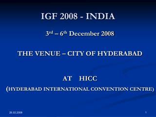 IGF 2008 - INDIA