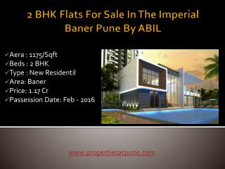 2 BHK Flats For Sale In The Imperial Baner Pune By ABIL