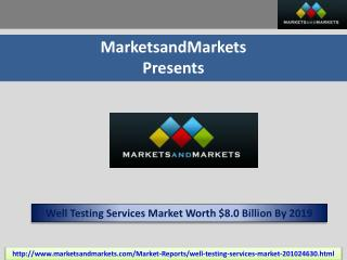 Well Testing Services Market by Services