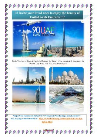 Visit Visa for Dubai