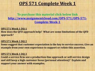 OPS 571 Complete Week 1