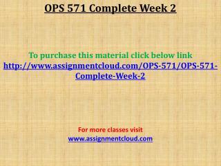 OPS 571 Complete Week 2