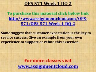 OPS 571 Week 1 DQ 1