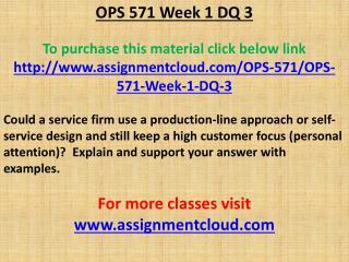 OPS 571 Week 1 DQ 3
