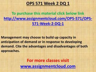 OPS 571 Week 2 DQ 1
