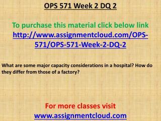 OPS 571 Week 2 DQ 2
