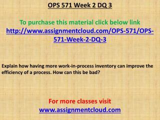 OPS 571 Week 2 DQ 3