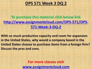 OPS 571 Week 3 DQ 2