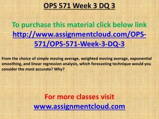 OPS 571 Week 3 DQ 3