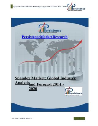 Spandex Market: Global Industry Analysis and Forecast 2014 -