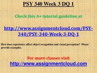PSY 340 Week 3 DQ 1