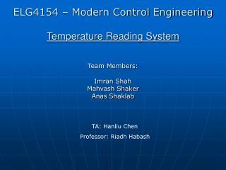 Temperature Reading System