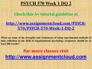 PSYCH 570 Week 1 DQ 2