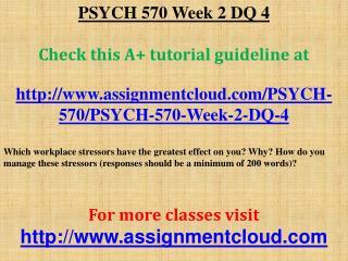 PSYCH 570 Week 2 DQ 4