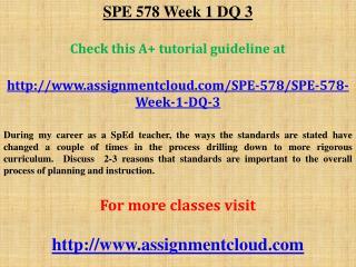 SPE 578 Week 1 DQ 3