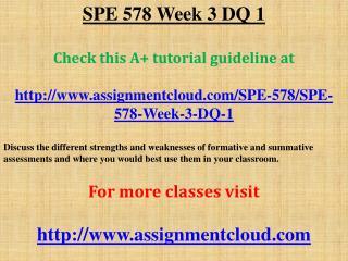 SPE 578 Week 3 DQ 1