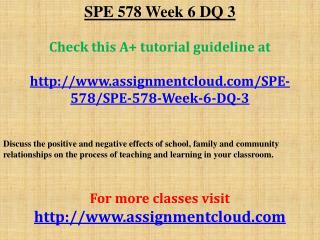 SPE 578 Week 6 DQ 3