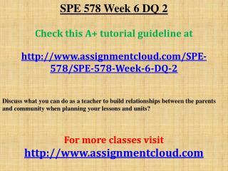 SPE 578 Week 6 DQ 2
