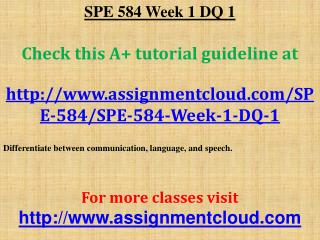 SPE 584 Week 1 DQ 1