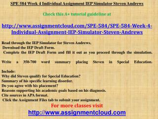 SPE 584 Week 4 Individual Assignment IEP Simulator Steven An