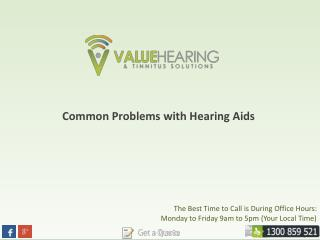 Common Problems with Hearing Aids
