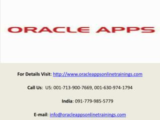 Oracle 10g Online Training and Placement - Oracle Apps Onlin