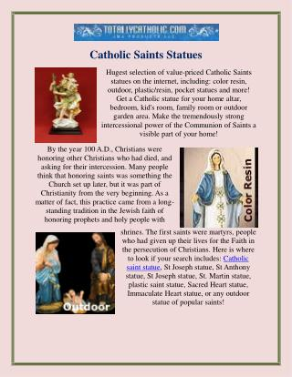 Catholic Saints Statues