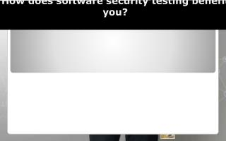 How does software security testing benefit you